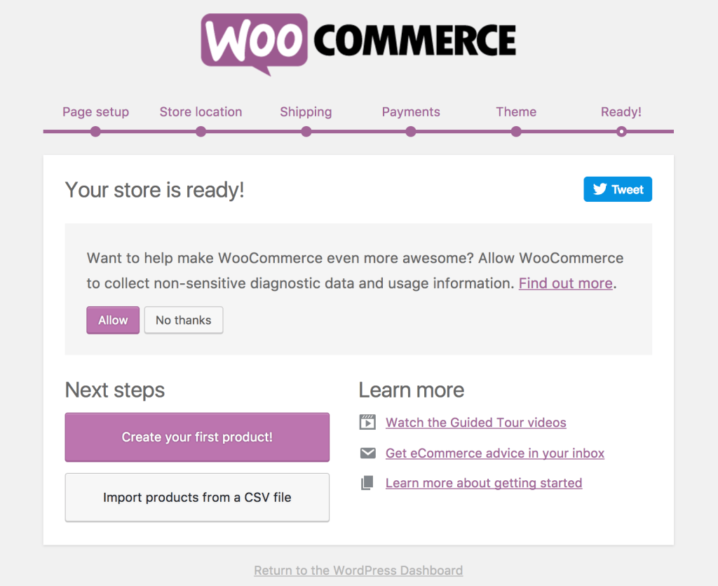 WooCommerce Wizard Ready