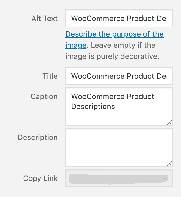WooCommerce Image SEO Settings