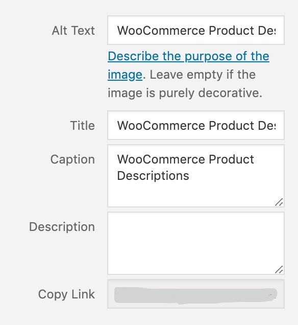 WooCommerce Image SEO Settings