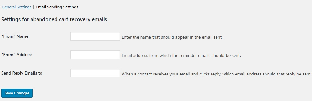 WooCommerce Abandoned Cart Email Address