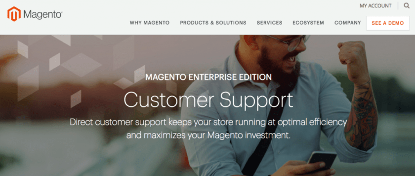WooCommerce vs Magento: Magento Support