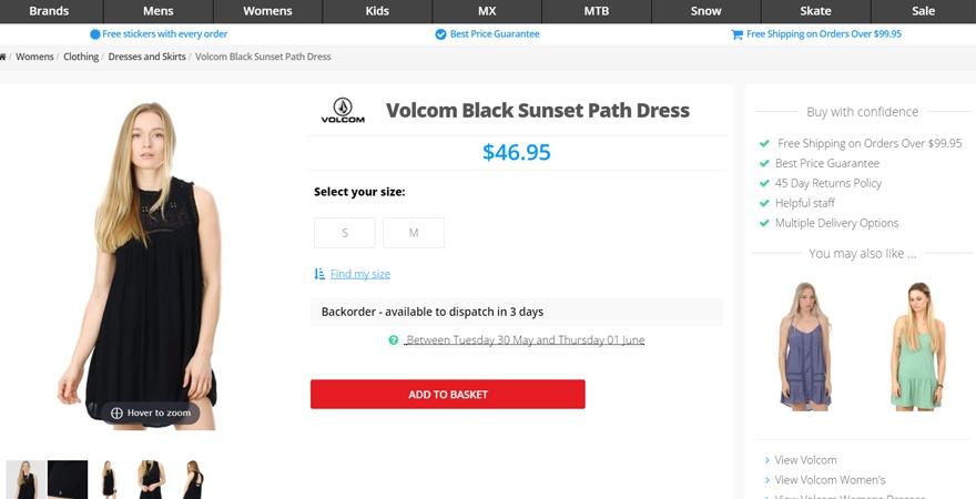 Online Store Product Description Sample
