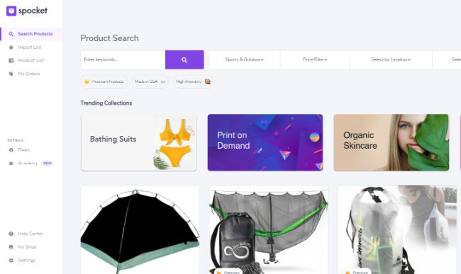 Spocket Search Products