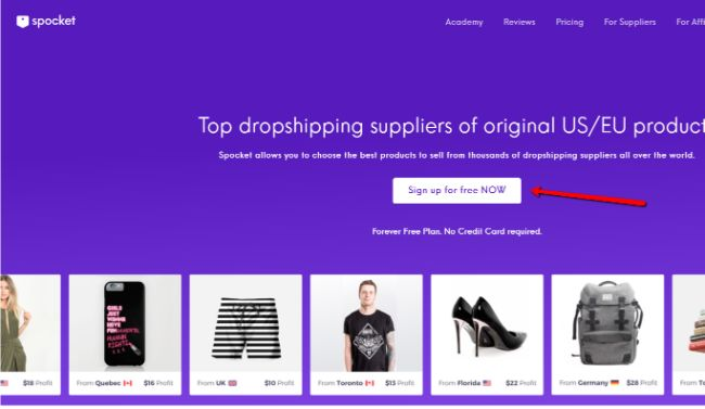 Spocket Sign up to Create WooCommerce Dropshipping store