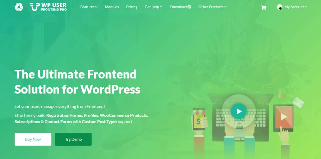 WordPress User Frontend