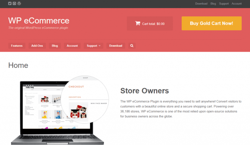 Best WordPress eCommerce Plugin-WP eCommerce