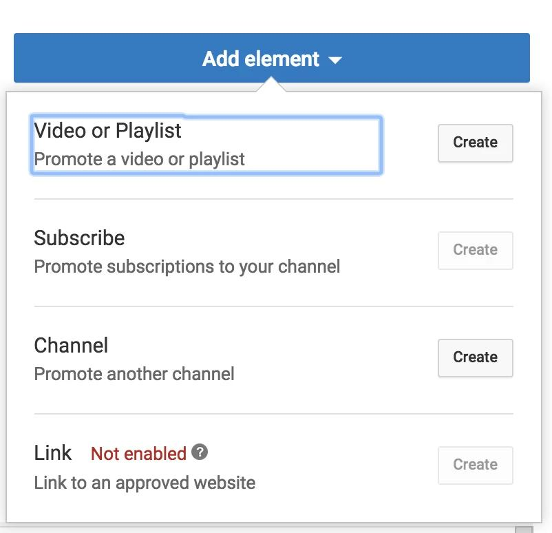 Add Element to YouTube videos