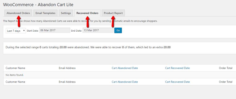 WooCommerce Abandoned Cart Emails Three Options