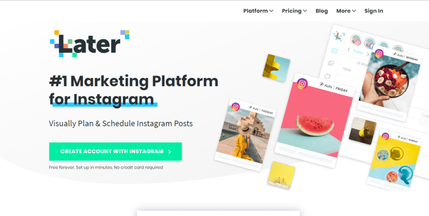 Instagram Marketing Tools: Later
