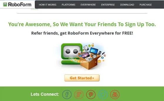 RoboForm Thank you Page