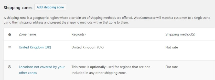 WooCommerce Shipping Options