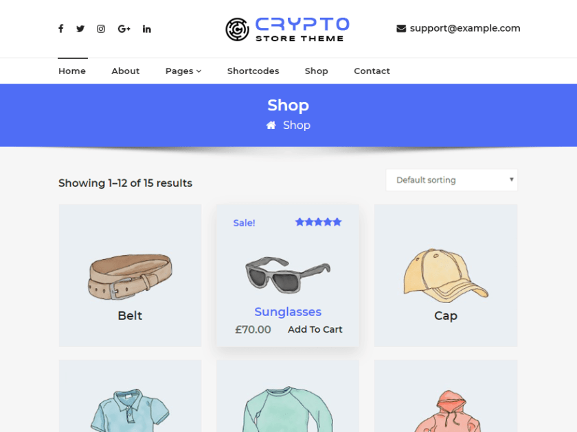 CryptoStore WordPress Theme