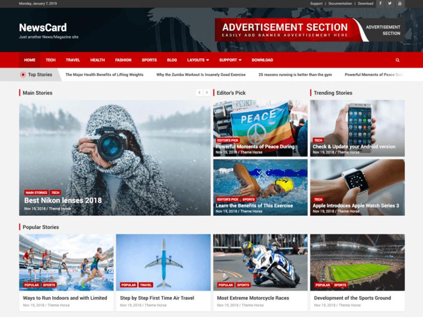 NewsCard WordPress Theme