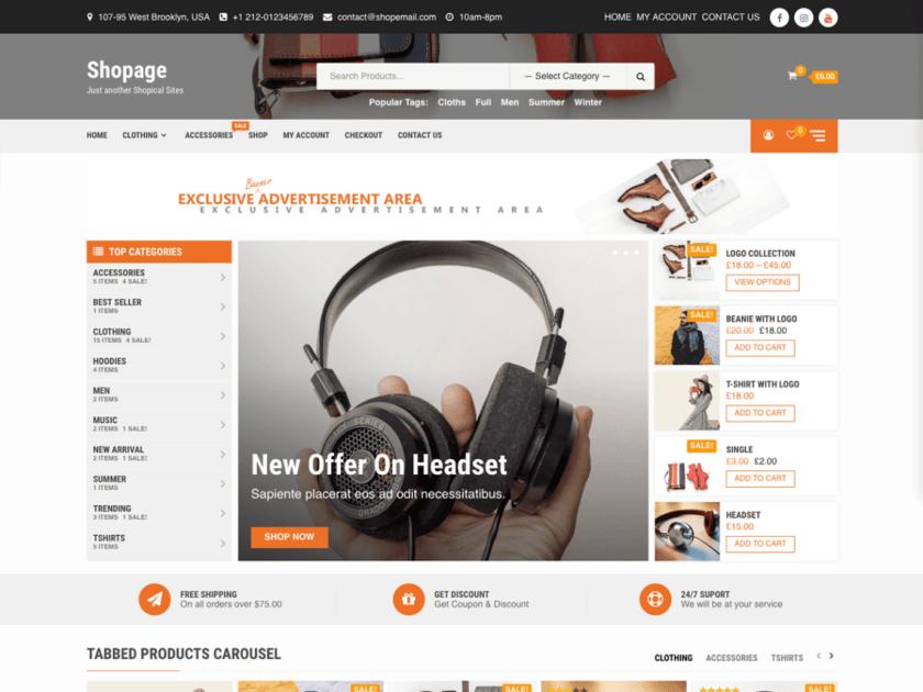 Shopage Ecommerce WordPress Theme