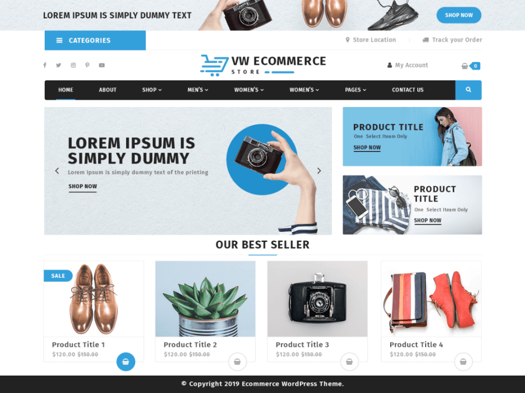 VW Ecommerce Store Ecommerce WordPress Theme