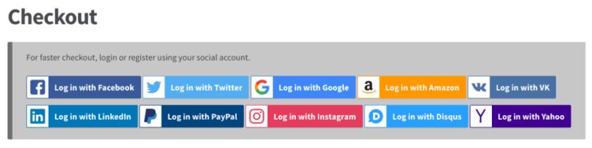 Social Login Checkout