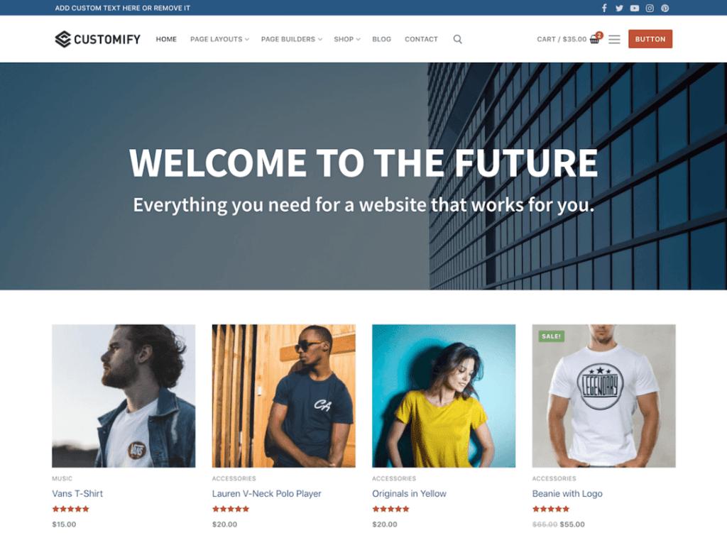WordPress eCommerce Themes-Customify