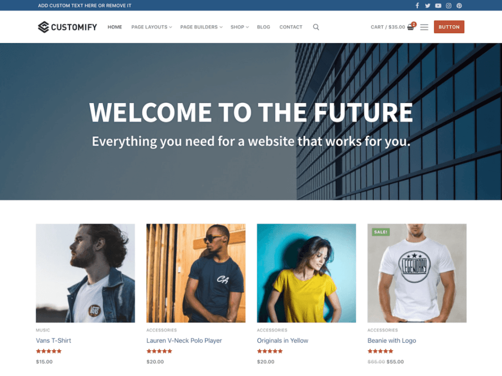 WordPress eCommerce Themes-Customify