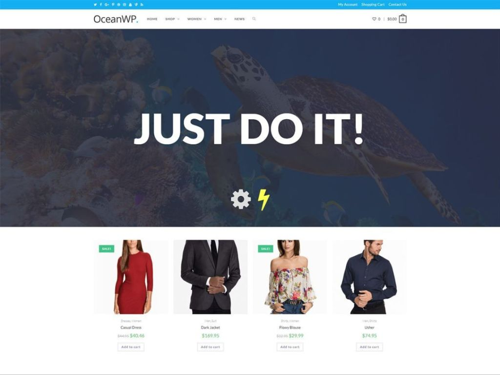 WordPress eCommerce Themes-OceanWP