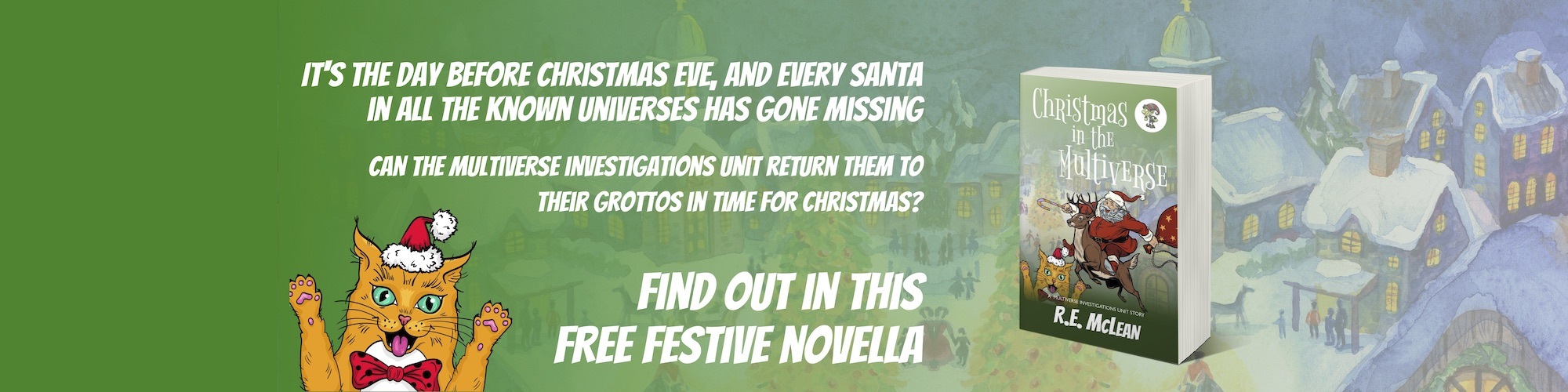 Free Christmas cozy mystery Christmas in the Multiverse
