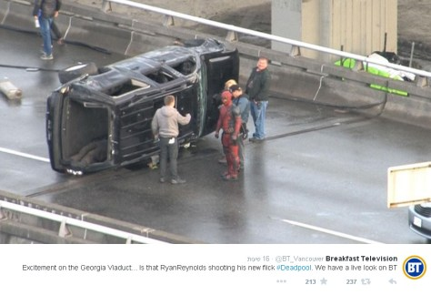 deadpool highway filming 01