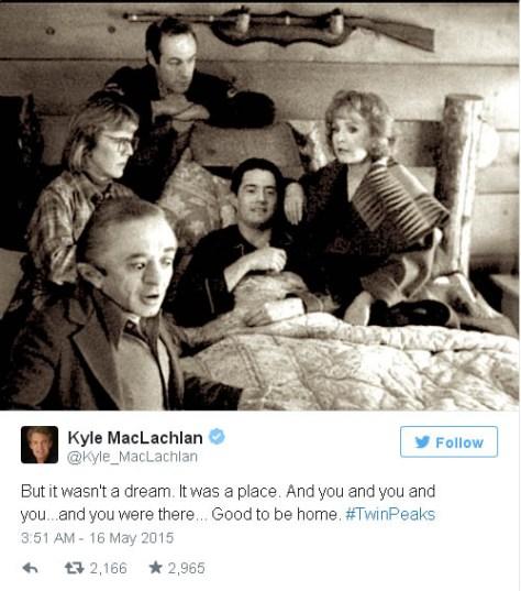 Kyle MacLachlan twin peaks tweet