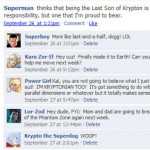 Superheroes on Facebook
