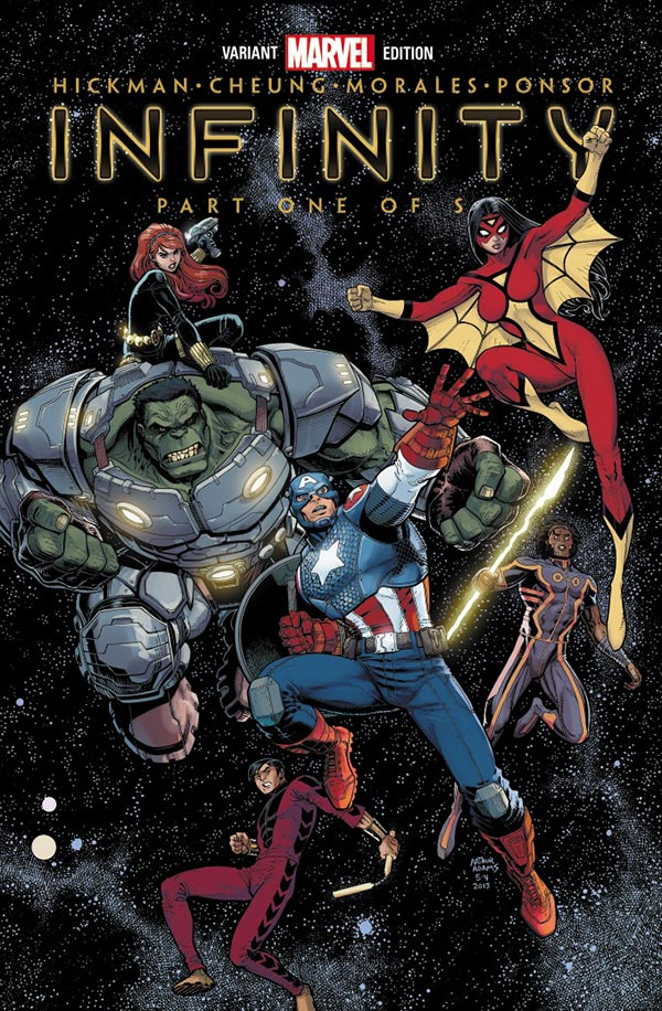 """Marvel Reveals """"Infinity"""" #1 Variant Cover By Art Adams"""