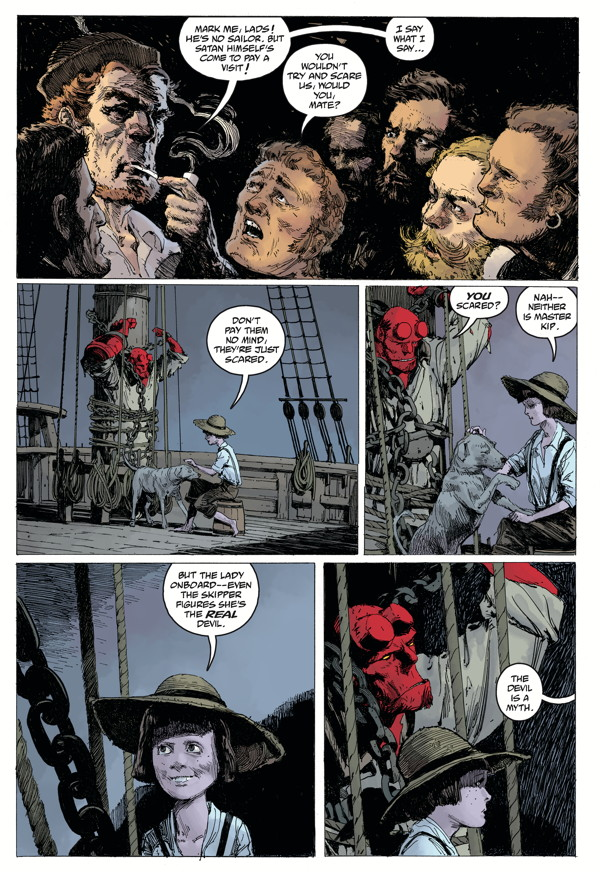 """""""Hellboy: Into the Silent Sea"""" preview page 4"""