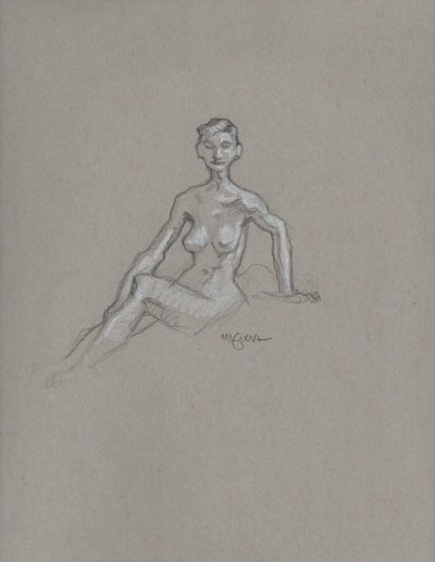Life drawing by Mike Mignola