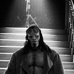 Feature: Hellboy - David Harbour (Black and White)