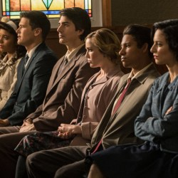 """DC's Legends of Tomorrow -- """"Amazing Grace"""" -- Image Number: LGN314b_0013b.jpg -- Pictured (L-R): Dominic Purcell as Mick Rory/Heat Wave, Maisie Richardson- Sellers as Amaya Jiwe/Vixe, Nick Zano as Nate Heywood/Steel Brandon Routh as Ray Palmer/Atom, Caity Lotz as Sara Lance/White Canary, Keiynan Lonsdale as Wally West and Tala Ashe as Zari -- Photo: Jack Rowand/The CW -- © 2018 The CW Network, LLC. All Rights Reserved."""