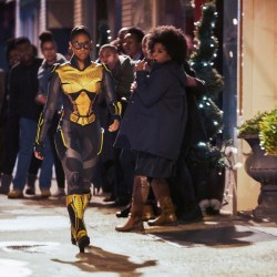 "Black Lightning -- ""Black Jesus: The Book of CrucifixionÓ -- Image BLK111A_0090b -- Pictured: Nafessa Williams as Thunder -- Photo: Bob Mahoney/The CW -- © 2018 The CW Network, LLC. All rights reserved."