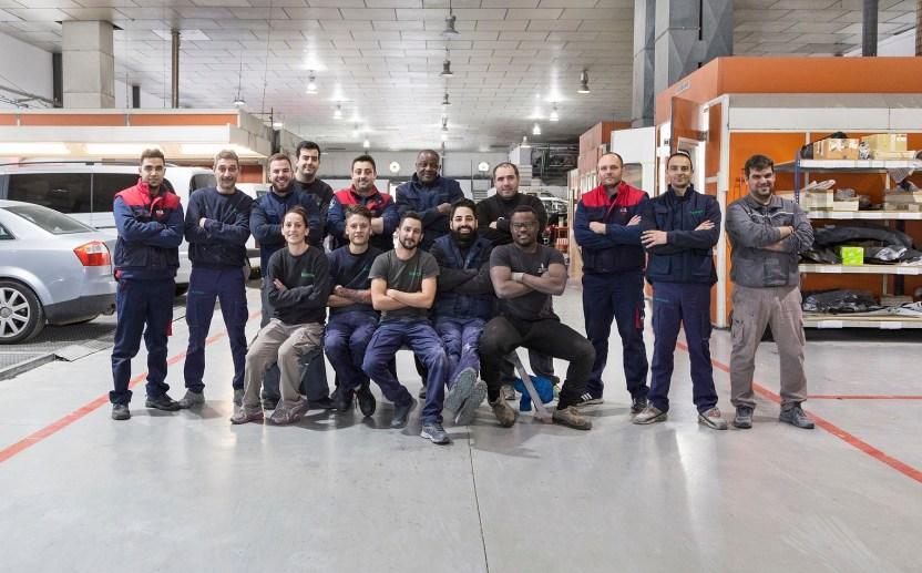Nuestra empresa - Equipo de los talleres de Multixapa