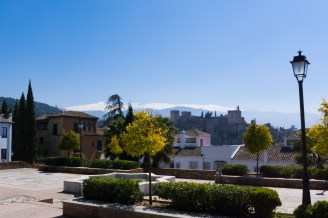 We stumbled on this quiet plaza while wandering the Albayzin looking for the Mirador de San Nicolas. A much more peaceful spot, and it also provided a great view of the Alhambra, with the Sierra Nevada in the background.