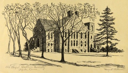 """""""Old Chapel Washburn University"""" by Margaret Whittemore"""