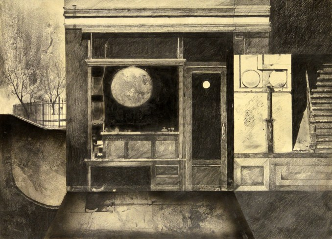 """""""Moon Rising in the Store Front"""" by Gary Woodward"""
