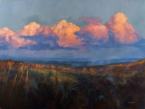Evening Descends on the Tallgrass