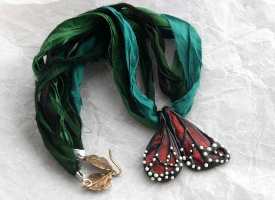 Glass Monarch Necklace