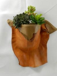 Leather Sconce Plant Holder