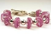 Pink Squares Bracelet