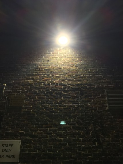 light and wall in car park