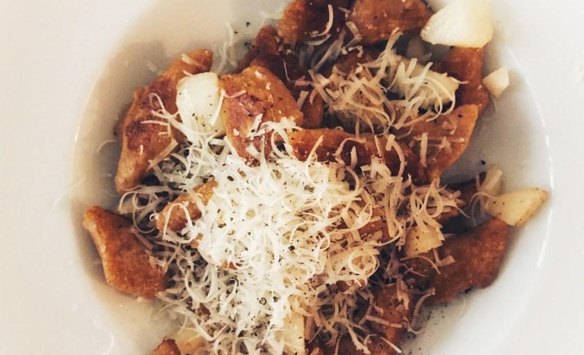 Süßkartoffel Gnocchi mit Birne