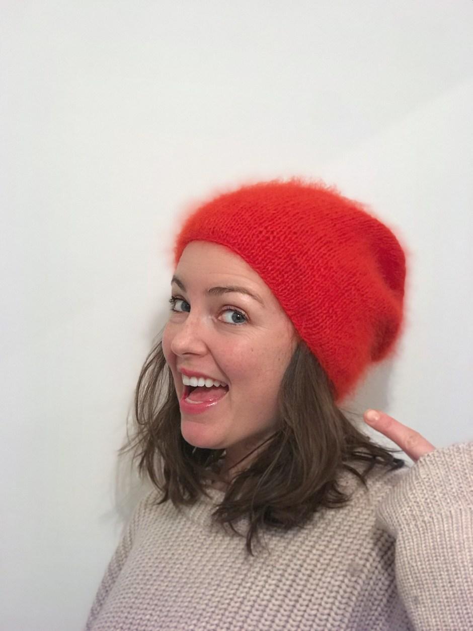 Rote Mütze stricken