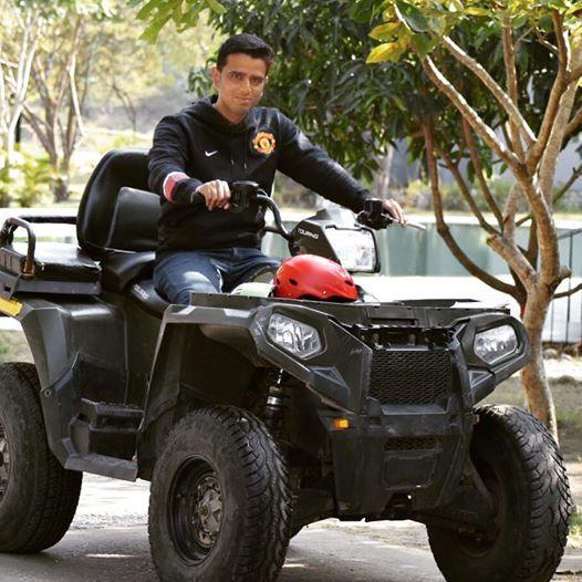 photo of Faraaz Kazi riding this mini beast