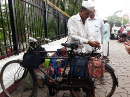 Dabbawala on Bicycle
