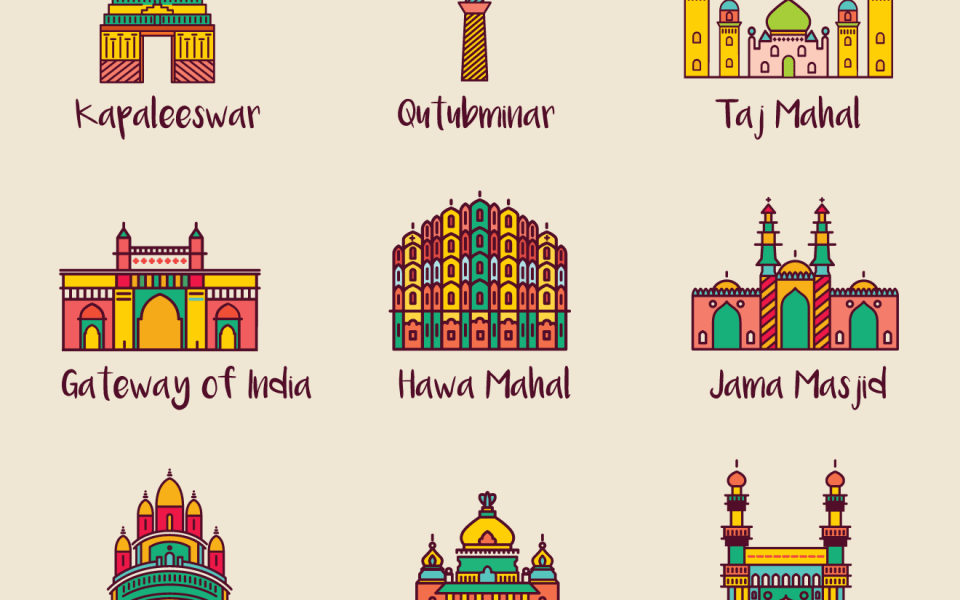 Best tourist spots in India (Illustration)