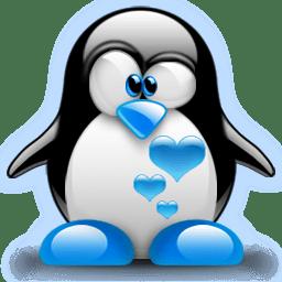 cute blue penguin