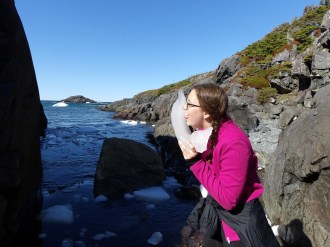 Nevermind me, just licking ice that is thousands of years old...