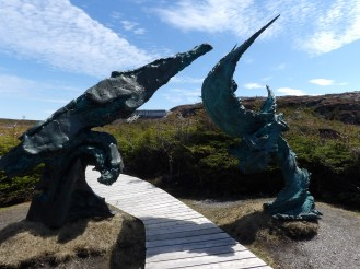 Sculpture at L'Anse aux Meadows. I like to fancy that it is a ship battling a storm.